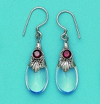 E 5228 Moonstone Hanging Earrings 25x10 mm