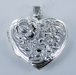 P22838L Heart Locket w/Design (Large)