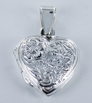 P22838 Heart Locket w/Design