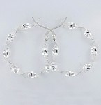 E 6907 Twist Hoop Earrings 30 mm