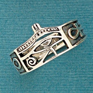 R 6616 Eye of Horus Ring - Size 13