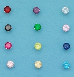 CZ Round Color 3mm