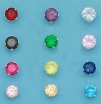 CZ Round Color 4mm