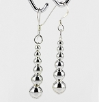 E 6925 Graduated Ball (3-7 mm) Hanging Earrings 37x8 mm