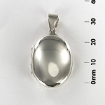 L 1702 Locket - Flat Oval