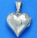 L 1719 Heart Locket w/Design