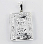 P22776 Rectangle Locket w/Design