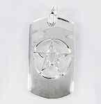 P22836 Dog Tag w/Pentagram