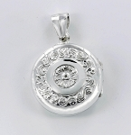 P22839 Round Locket w/Design
