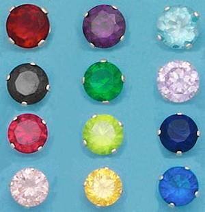 CZ Round Color 6mm