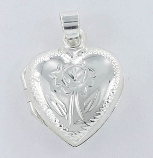 P22861 Heart Locket w/Design